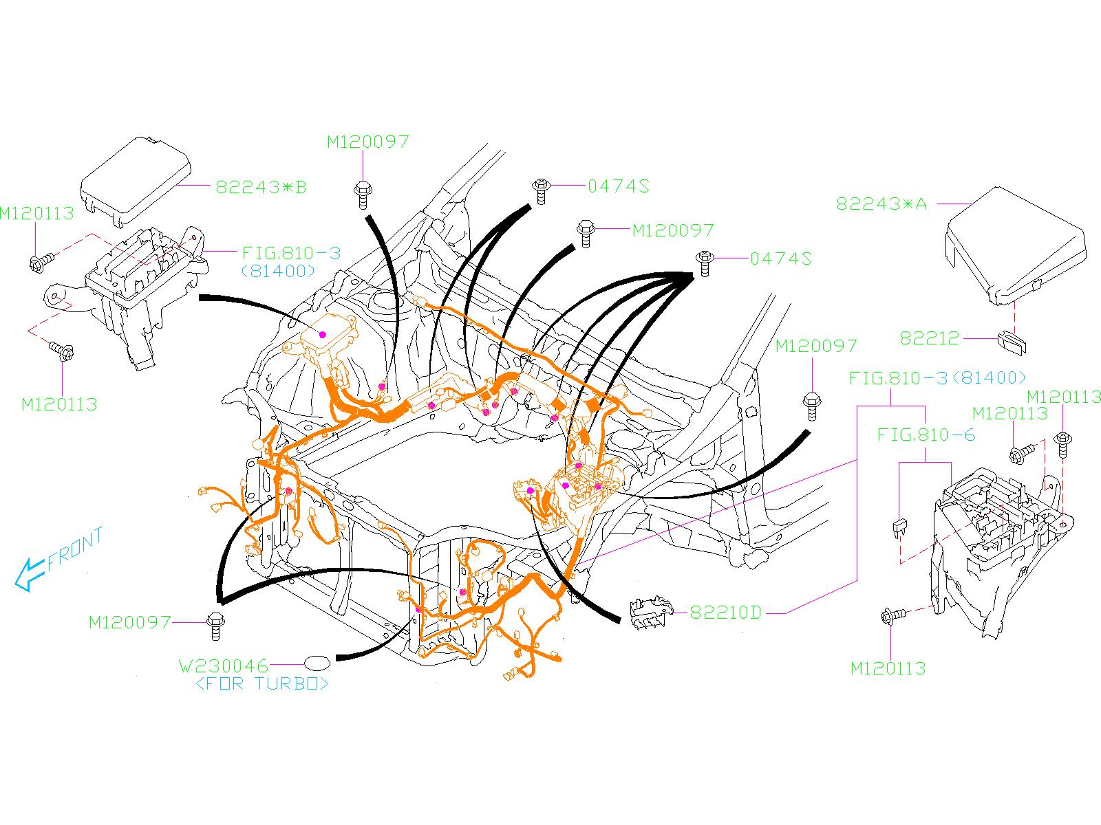 Subaru Legacy Fusible Link. SLOW Blower Fuse. SBF ...