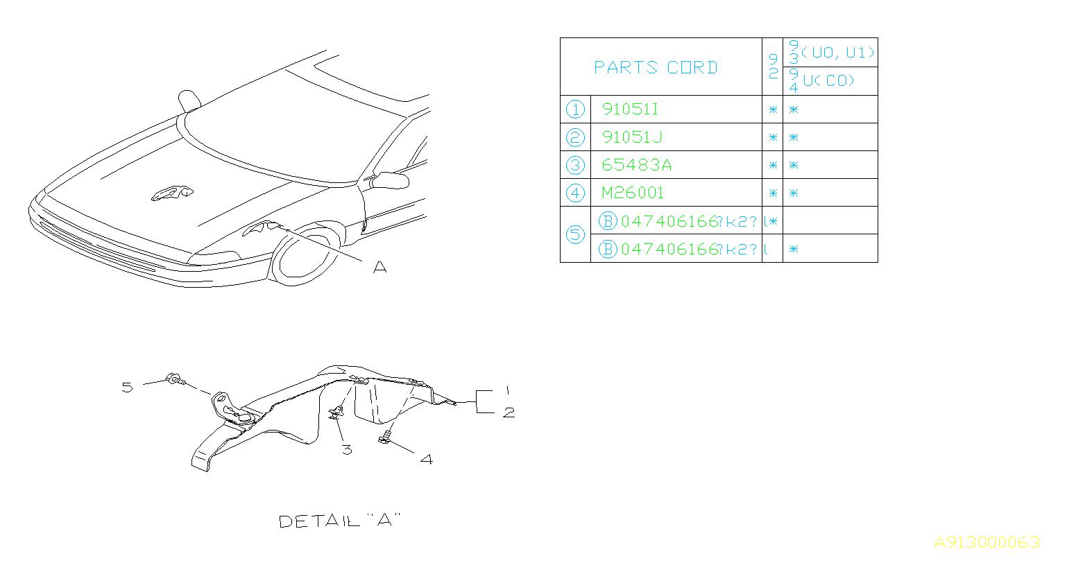 Subaru Svx Sunroof Wiring Harness Clip