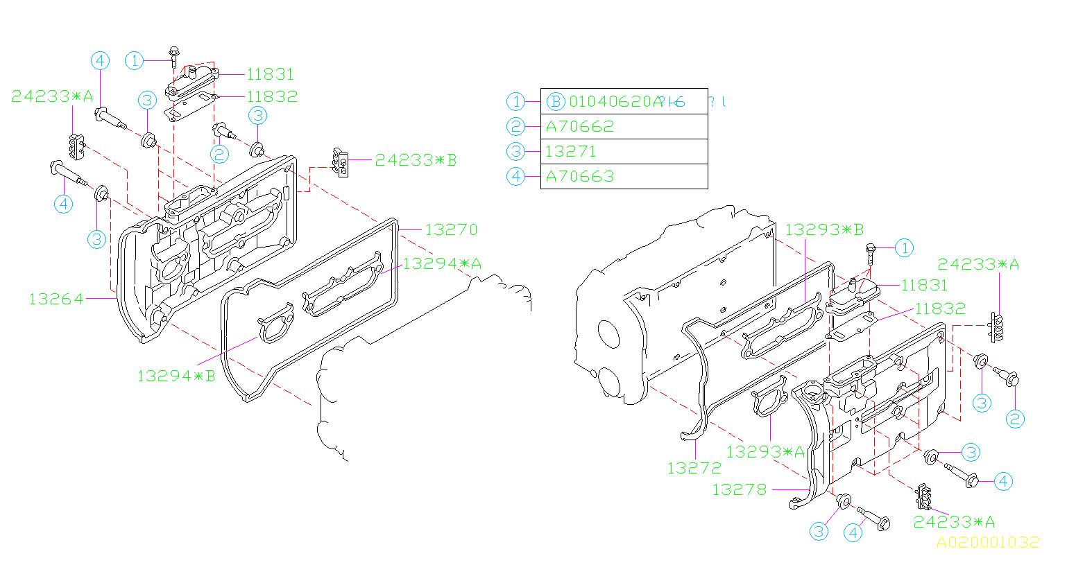 Subaru Svx Engine Valve Cover Gasket
