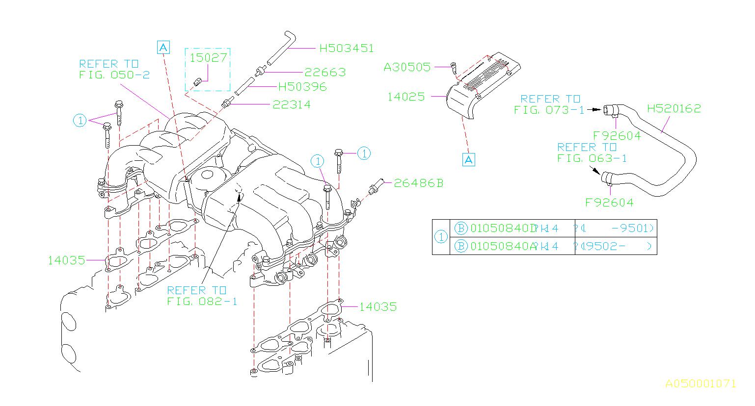 Subaru Svx Engine Intake Manifold Gasket