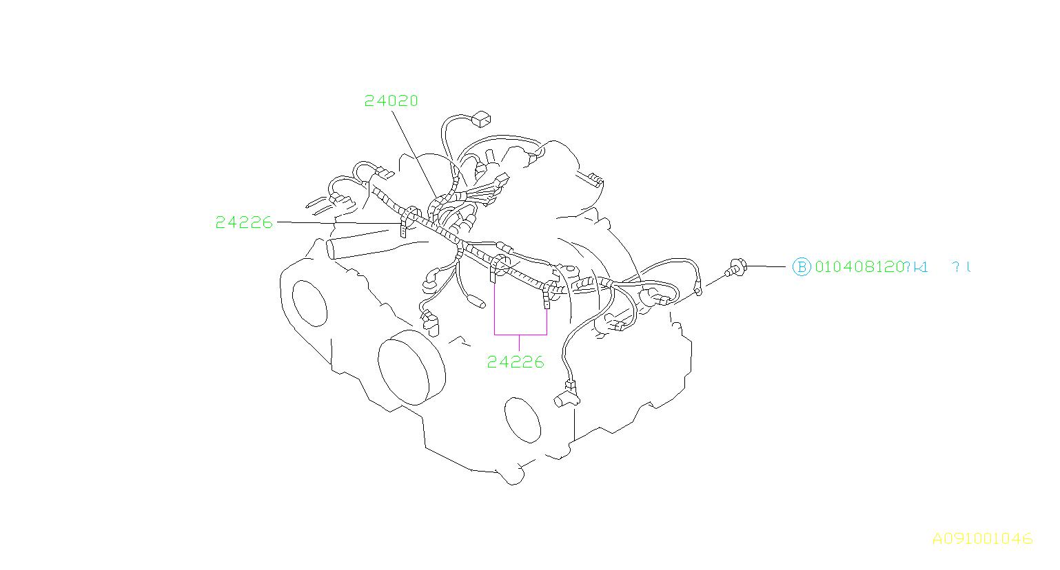 Subaru Impreza Engine Wiring Harness