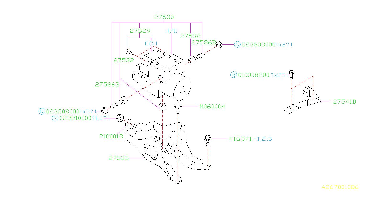 Subaru Impreza Abs Control Module  Pt370303 Ecu Repair Abs