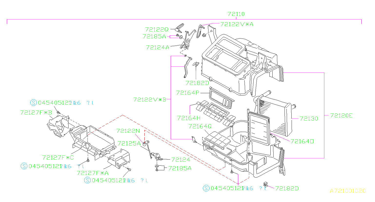 Subaru Impreza Lever Defroster Foot  No 2