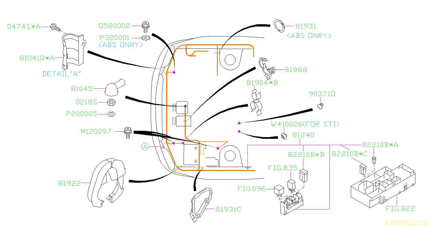 2014 Subaru Impreza Fuse  Electrical  Main  Current