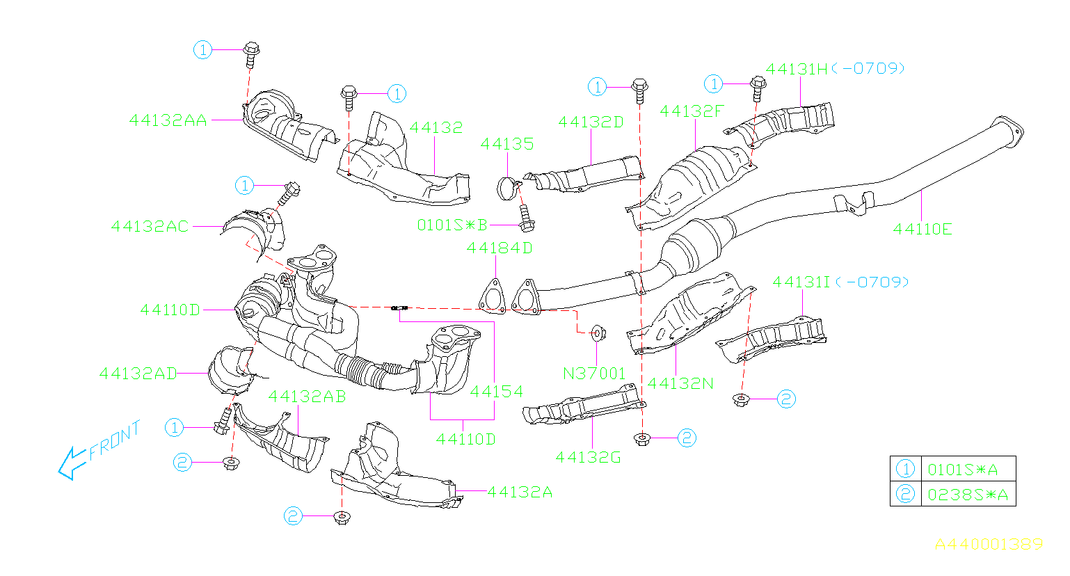 2008 Subaru Impreza Cover Complete Converter Pipe ...