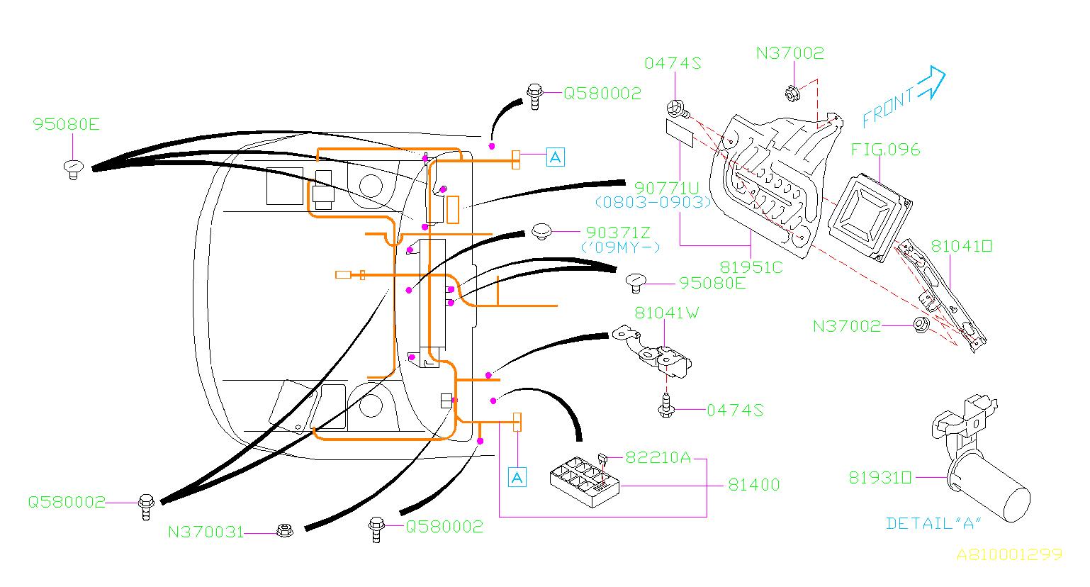 Subaru Sti Cover  Wiring  Main  Harness  Electrical