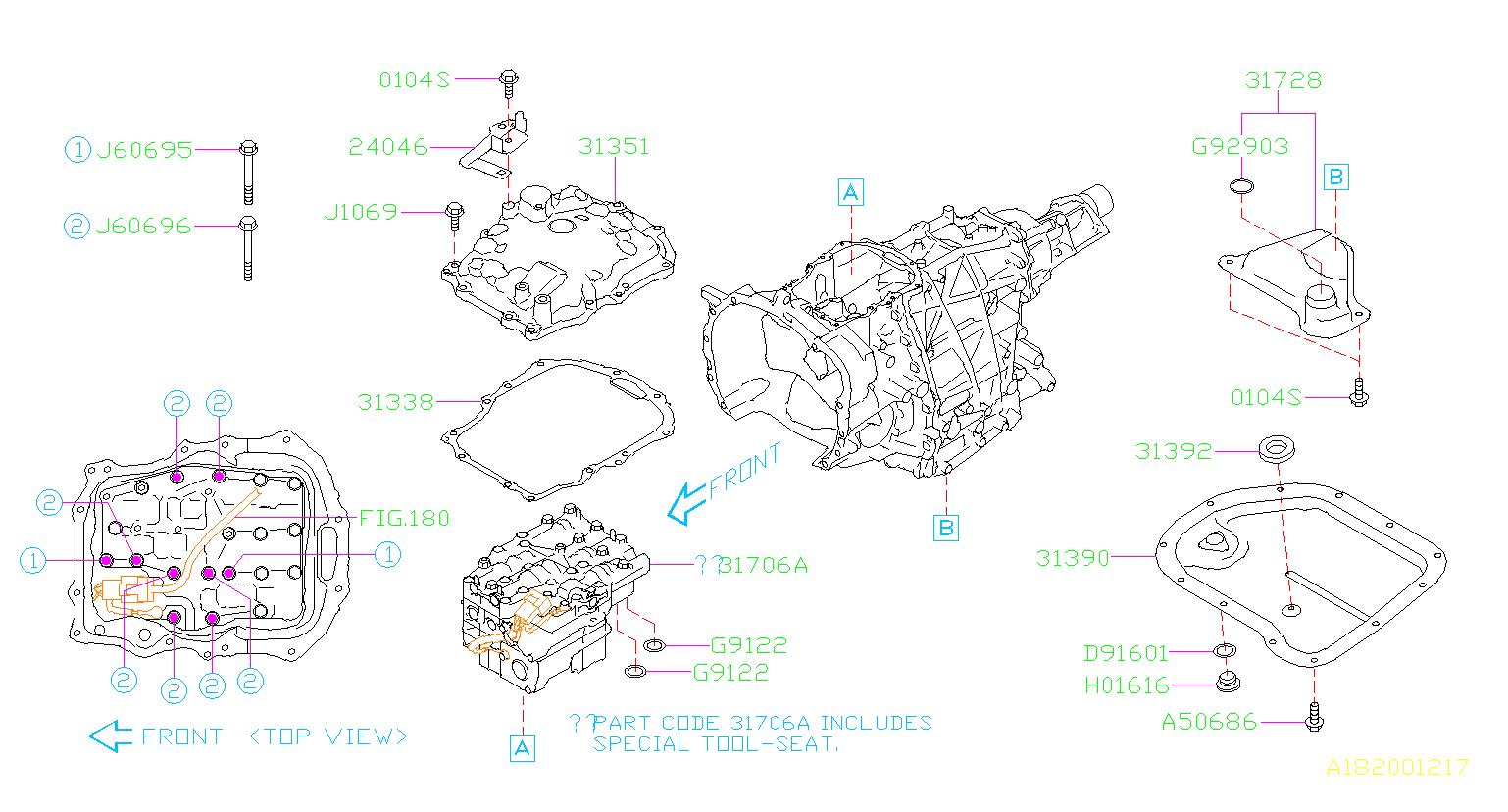 31825aa052 Subaru Control Valve Kit Transmission