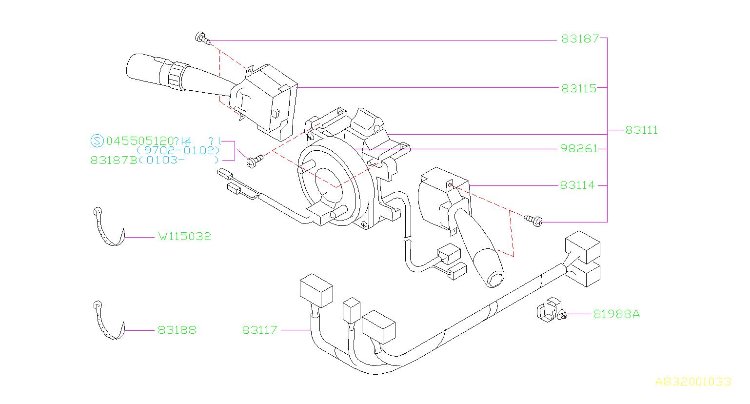 Subaru Forester Steering Column Wiring Harness ...