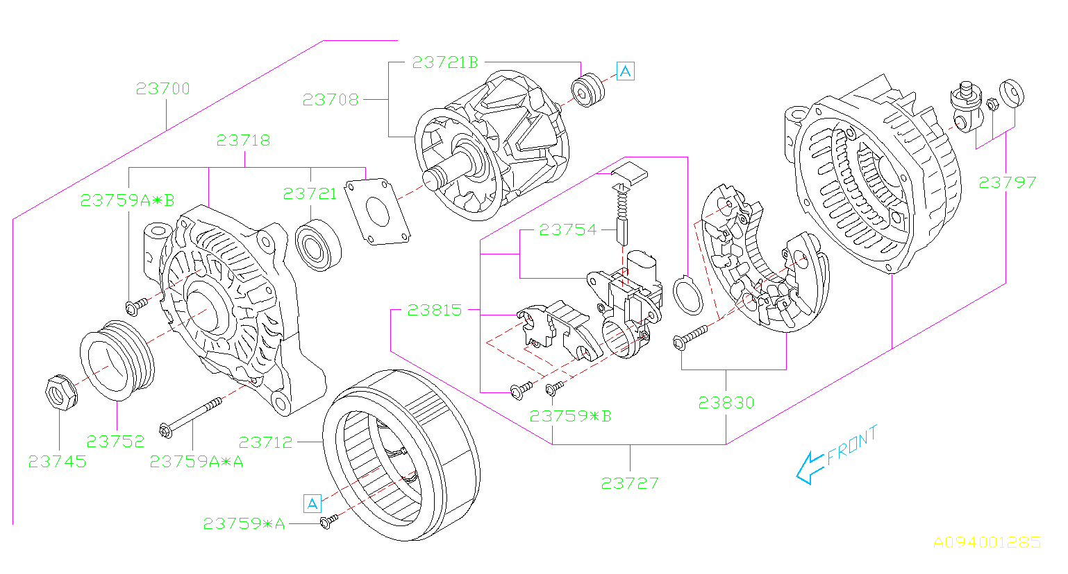 Subaru Forester Alternator  System  Battery  Body