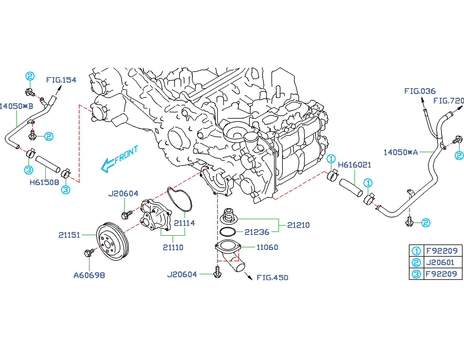 Subaru Forester Radiator Coolant Hose