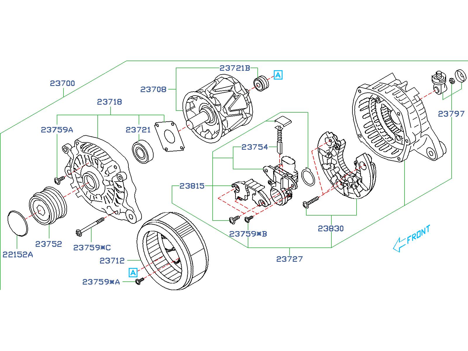 Subaru Forester Screw Set Alternator  Body