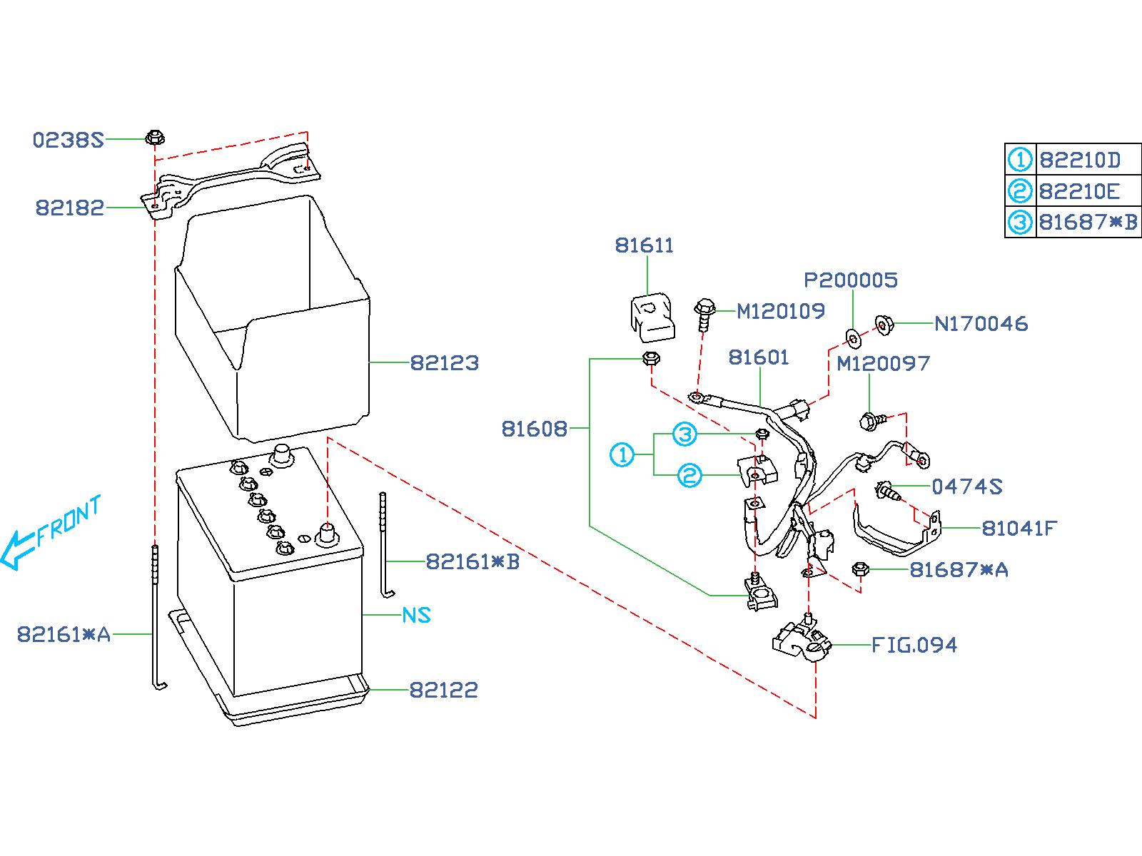 Subaru Forester Nut  Battery  Equipment  Fuse
