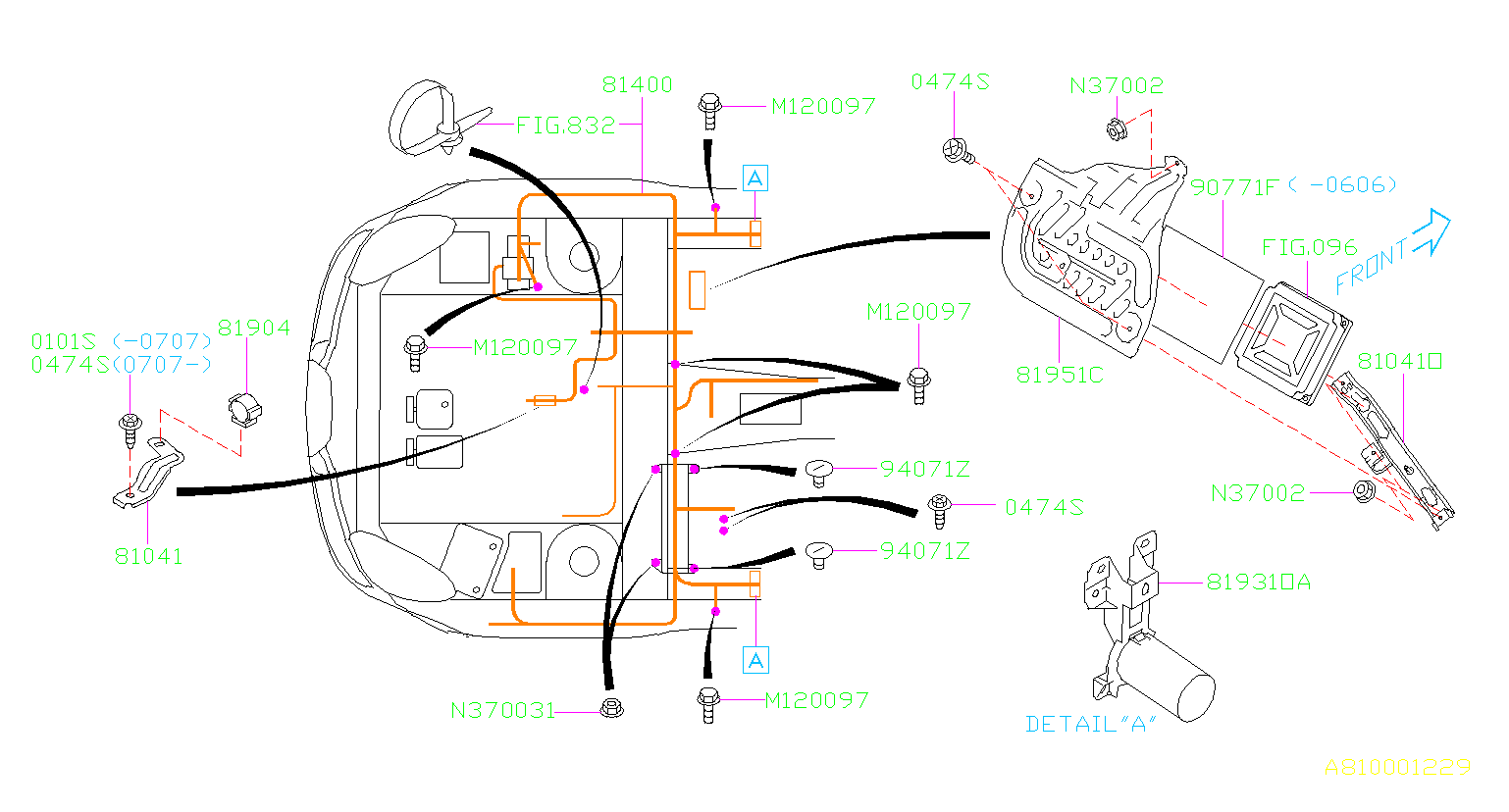 Subaru Tribeca Clamp  Wiring  Main  Harness