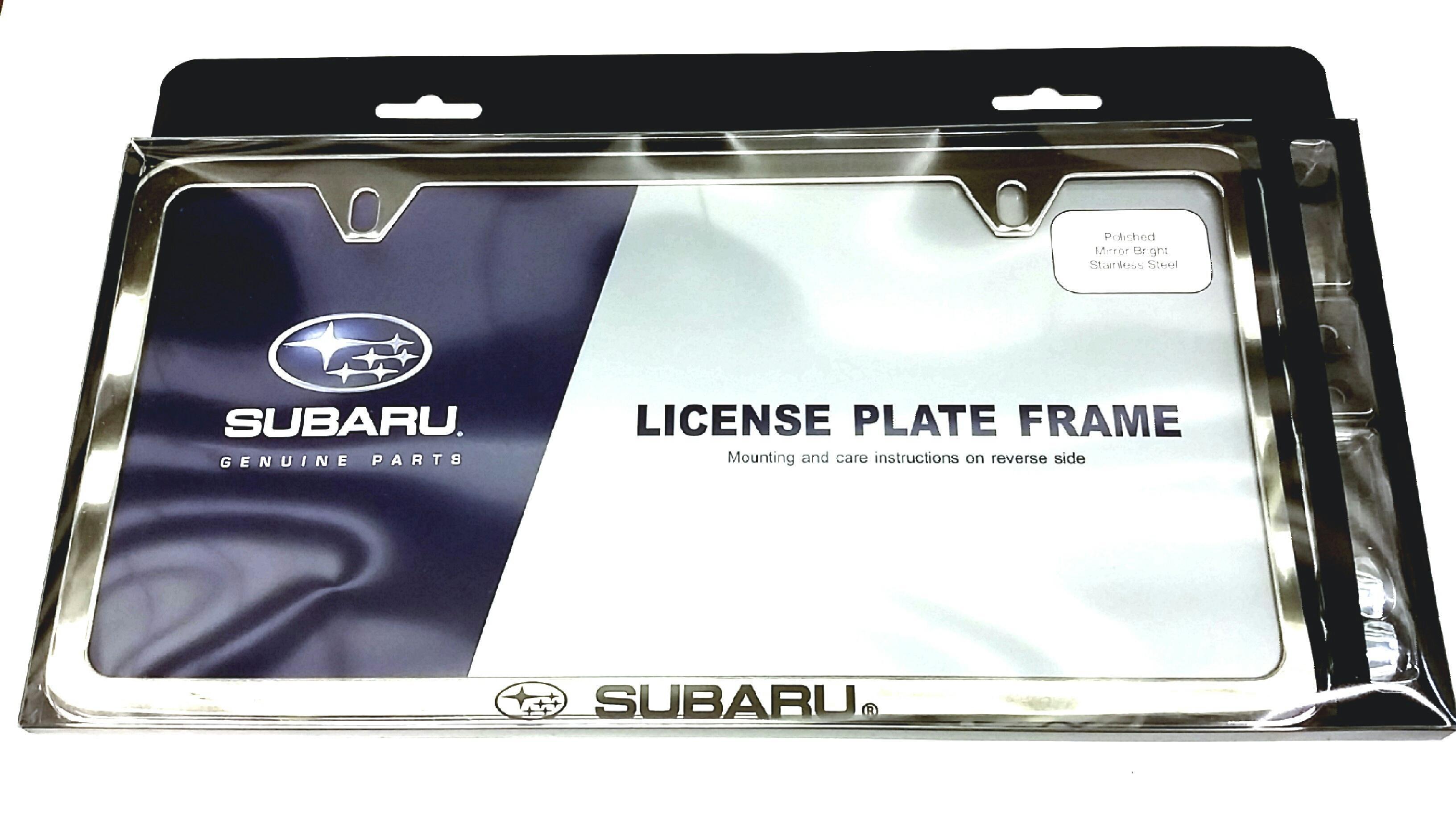 Soa342l152 subaru subaru license plate frame polished for Colorado springs motor vehicle registration